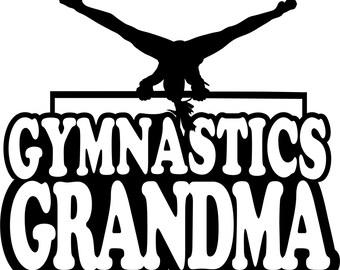 Gymnastics Sweatshirt/ Gymnastics Grandma/ Girl Gymnast Gymnastics Grandma Hoodie Sweatshirt/ Gymnastics Gift/ Many Colors