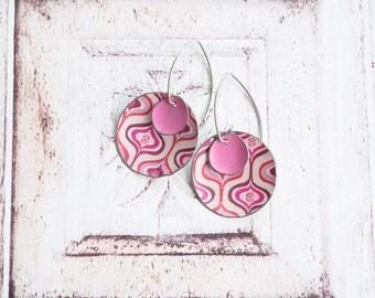 Recycled Tin Dangle Earrings