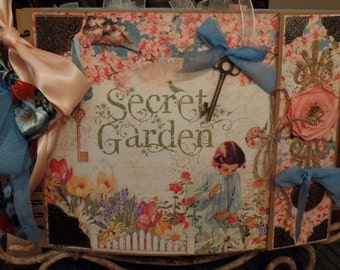 scrapbook album/journal graphic45 retired secret garden album