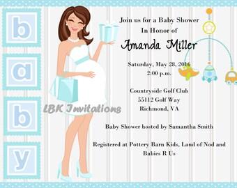 Chic Baby Shower Invitation - Boy