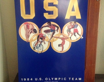 Vintage 1984 us olympic poster