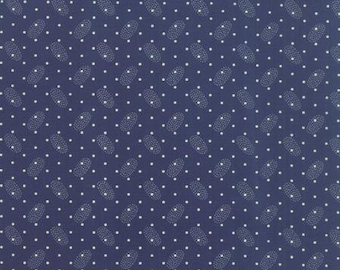 Polka Dots and Paisleys Ovals Blue - 1/2yd