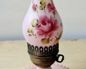 Lampe rose vintage milkgl...