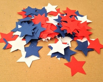 4TH JULY - Paper Confetti/Star/American Flag/Patriotic/Thanksgiving/Independence/USA