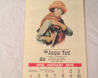 Liberty Reproduction 1925 Calendar for 1981 (Dates were the Same)The Junque Yard