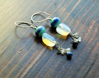 She.. earrings - Artisan, Dangle, Sterling, Moonstone