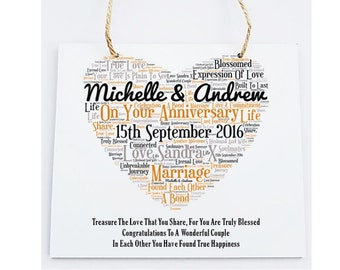 Personalised Your Anniversary Wooden Plaque