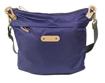 Nylon Shoulder Bag (Purple)