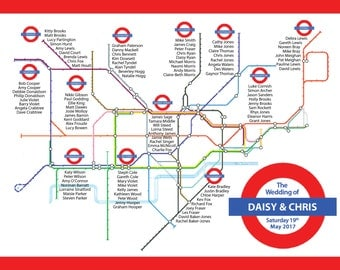 London Underground Tableplan