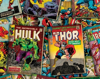 Marvel Comic Covers Fabric From Springs Creative