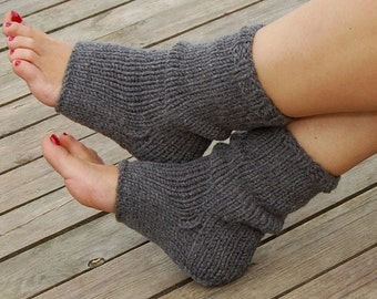 Hand Knit  Pedicure Socks, Toeless Socks, Flip Flop Socks,  Knitted Yoga Socks, Hand Knit Socks for Pedicure