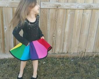 Rainbow Twirl Skirt