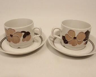 A set of 2 coffee cups Nevada/Sierra Rörstrand Sweden