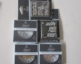 Jolee's Jewls Crystallized Swarovski Elements Various Sizes and Qtys 5 NIB Packages 3mm, 4mm, & Combo Packs