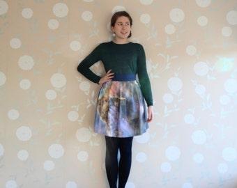 Astronomy skirt, Nebula skirt, pink nebula, galaxy skirt, Hubble Space Telescope, starry night, night sky skirt, gifts for geeks
