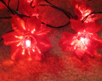 Vintage String Lights Etsy : Vintage flower string lights Etsy