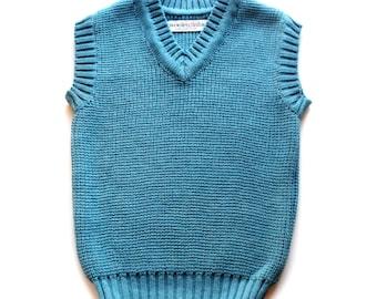 Babies/Children's merino wool knitted Vest/toddlers/gilet/sweater/tank top/waistcoat/V neck/jumper/sweater/sleeveless cardigan