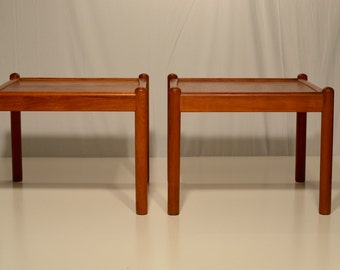 Pair of Teak Side Tables