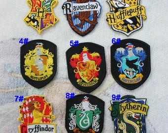 9 for Choose , School Badge Iron on Patches Movie Harry Potter Patch CD173