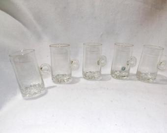 Vintage Set of 5 Irish Coffee Glasses