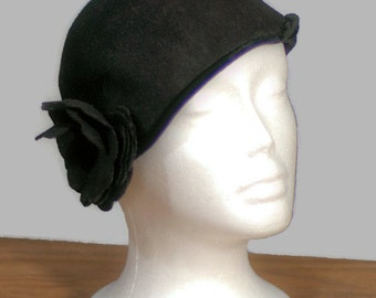 Vintage1950's Cloche. Henry Pollack Inc. Cloche Wool Felt Hat Made in USA