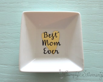 Mothers Day Gift, Personalized Ring Dish Mom, Jewelry dish, Mom to be, Mother in law.