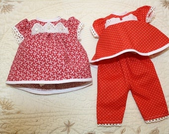 30s Style Doll Clothes Set