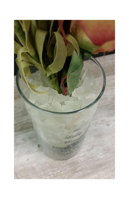 Memorial vase clear glass flower vase frosted white sea glass gallery photo gallery photo gallery photo gallery photo gallery photo reviewsmspy
