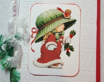 Baby Girl Handmade Christmas Card