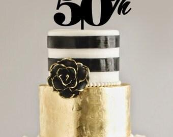 50th Birthday/Anniversary CAKE TOPPER
