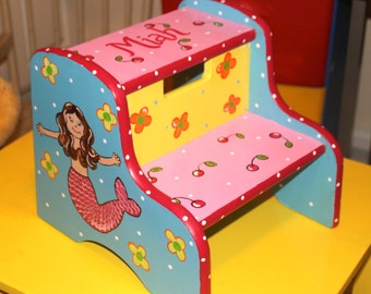 Custom Painted 2 step stool
