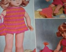 vintage dolls beach sets pattern