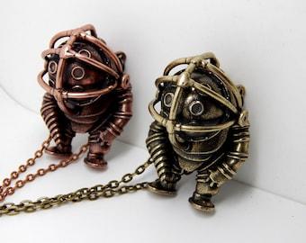 BIOSHOCK BIG DADDY Necklace little sister pendant necklace rapture medallion