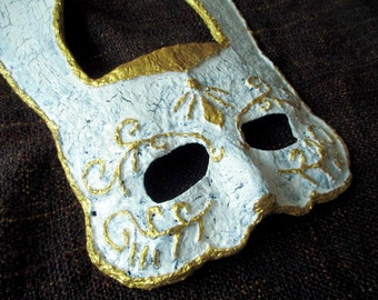 Bunny Splicer Mask Cosplay Prop, Distressed Rabbit Mask, Venetian Rabbit Mask, Bioshock Cosplay, Bioshock Costume, Bioshock Mask