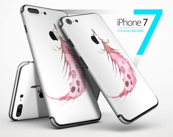 WaterColor DreamFeathers v2 - Skin Kit for the iPhone 7 or 7 Plus, 6 or 6s Plus, 5/5s/SE, 5c & More