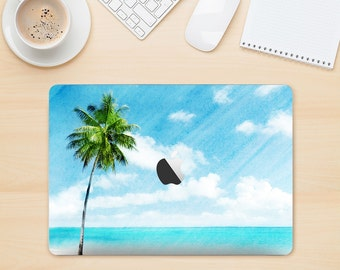The Paradise Beach Palm Tree Skin Kit for the Apple MacBook Air - Pro or Pro with Retina Display (Choose Version)