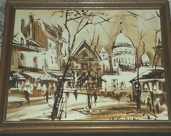 Paris Street Painting Signed by Girard