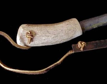 Elk Antler Magnesium and Flint with Metal Striker Fire Starter American Hand Crafted in Oregon