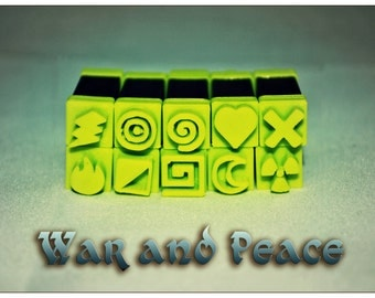 Stampies! War and Peace - Polymerclay Tool Set / Arts and Crafts Tool Set
