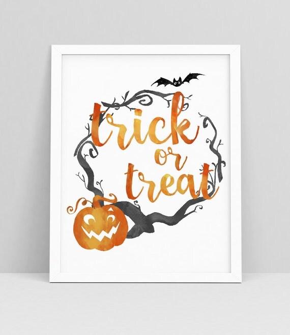Wall Decor Halloween : Halloween printable trick or treat wall art