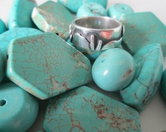 Metal Clay Desert Ring