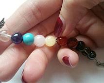 Chakra Prayer beads - Chakra Meditation beads - Chakra - Chakra Mala beads - Yoga beads - Pocket beads  - Chakra Jewellery - Seven chakras