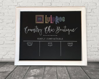 Rustic Framed Hand Painted 16x20 Chalkboard Retail Sign