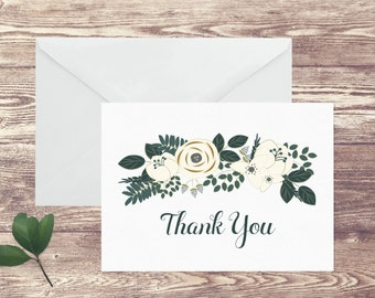 Personalized Stationery Folded Notecards Exeter, Thank You Notecards, Girl's Personal Stationery Set, Notecards with Name, Gift for Her