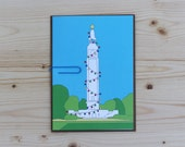 Christmas Card - Coloring - 5x7 - Carillon Tower - Richmond, VA