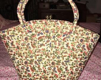 1950s Floral Purse