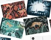 Pack of 8 Papio Press Big Cats Postcards