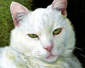 Extreme Close-up Painting - Custom Pet Portrait Memorial Art