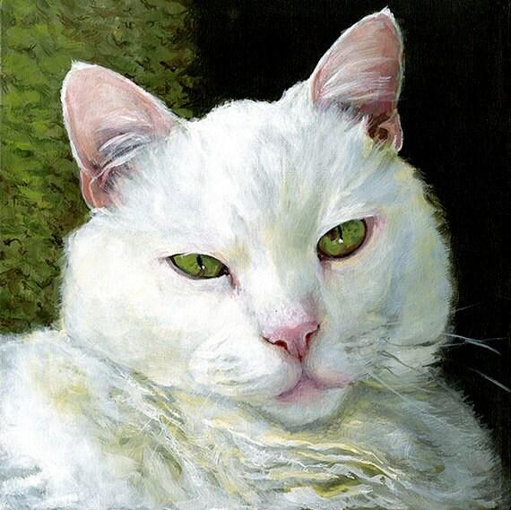 Extreme Close-up Painting - Custom Pet Portrait Memorial Art