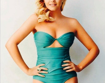 Vintage Inspired Turquoise One Piece